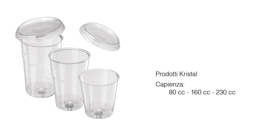 Bicchieri Kristal + coperchio
