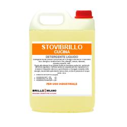 Tanica da 5 litri Stovibrillo Cucina giallo detergente universale liquido per uso industriale. Stoviglie e cucina lavaggio automatico e manuale