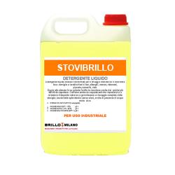 Tanica da 5 litri Stovibrillo giallo detergente universale liquido per uso industriale. Stoviglie lavaggio automatico