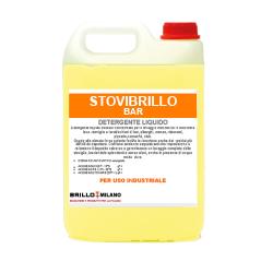 Tanica da 5 litri Stovibrillo Bar detergente giallo universale liquido per uso industriale.
