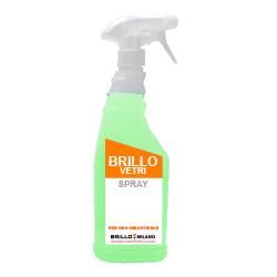 Nebulizzatore da 750 ml Brillo Vetri detergente universale liquido verde.